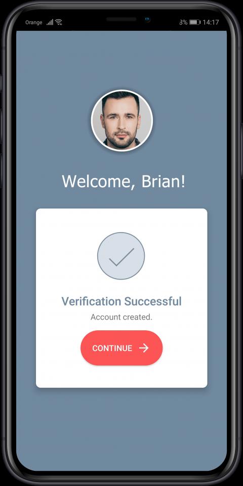 face verification successful