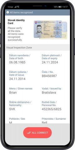 Biometric Data Extraction identity documents