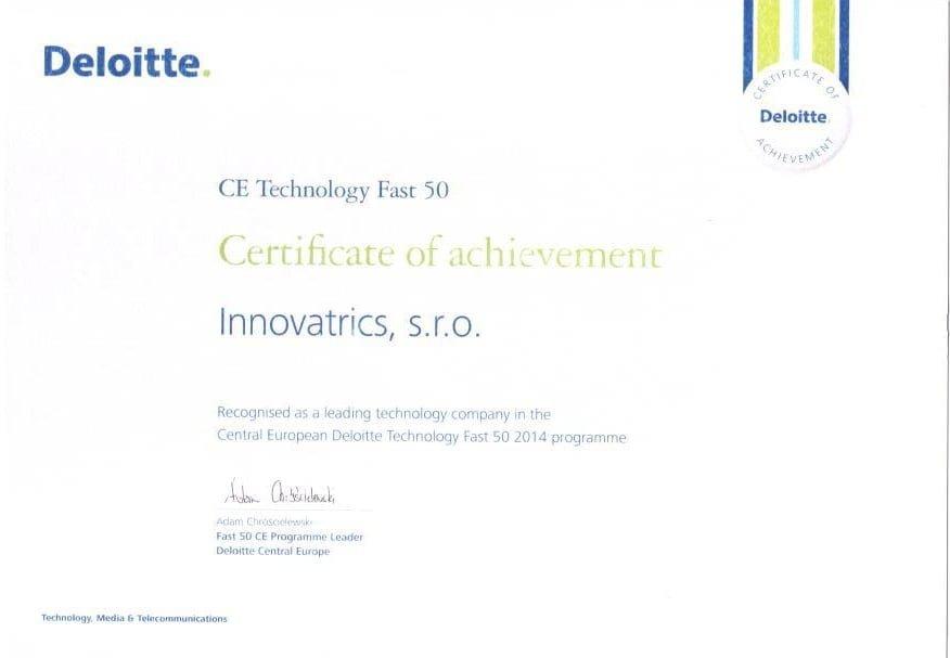 Inovatrics deloitte fast 50