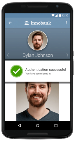 biometric authentication from smartphone